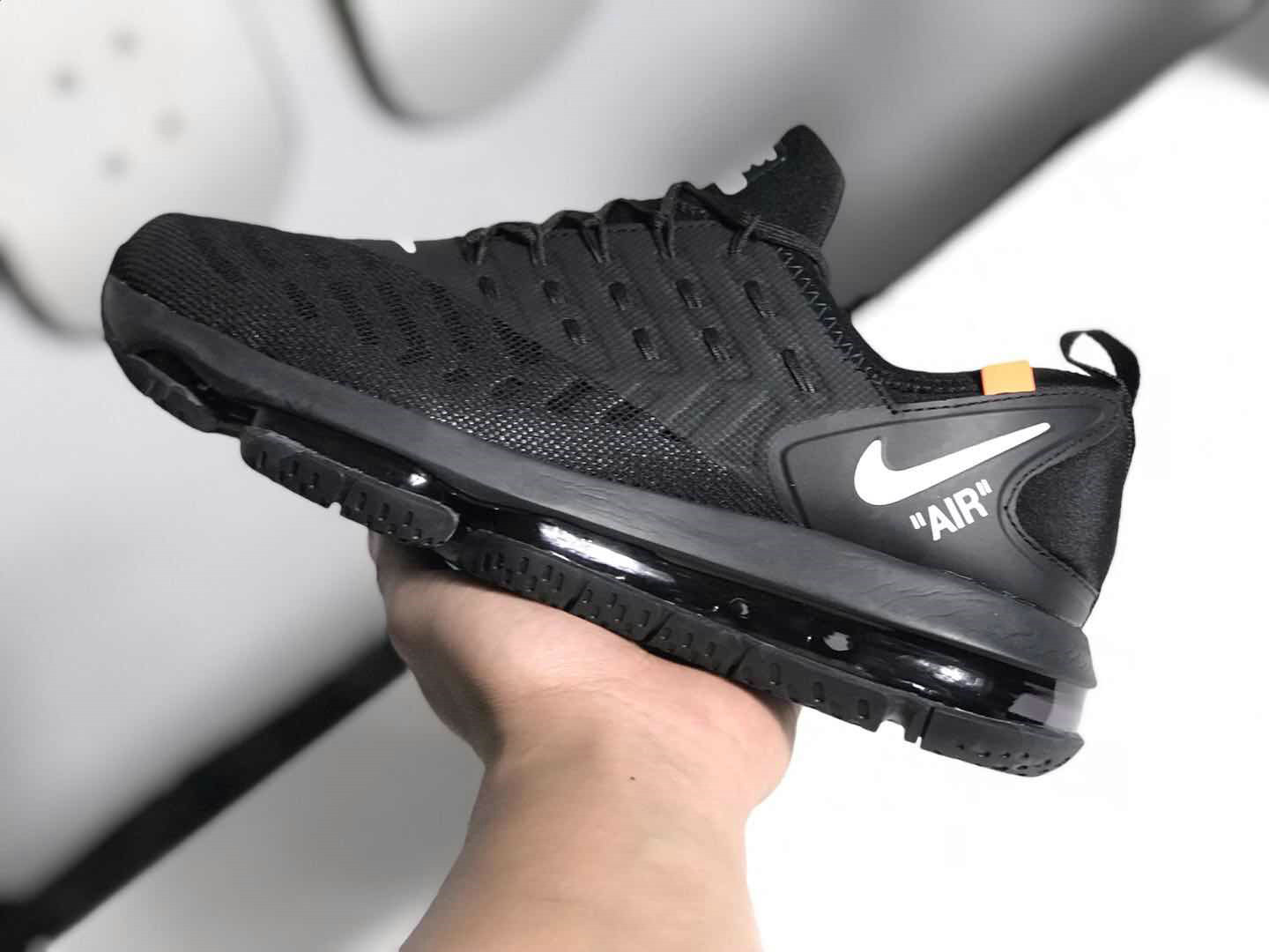 Wholesale Cheap NikeLab Air Max 2019 OFF WHITE Total Black - www.wholesaleflyknit.com