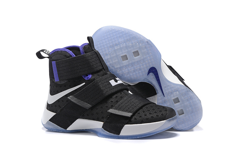 Wholesale Cheap NikeLebronSoldier 10 Black White Purple - www.wholesaleflyknit.com