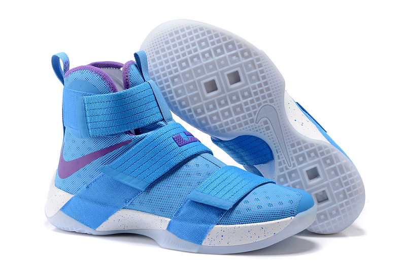 Wholesale Cheap NikeLebronSoldier 10 Blue Purple White - www.wholesaleflyknit.com