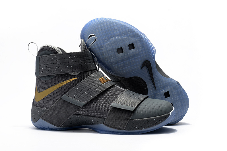 Wholesale Cheap NikeLebronSoldier 10 Gold Light Blue Dark Grey - www.wholesaleflyknit.com