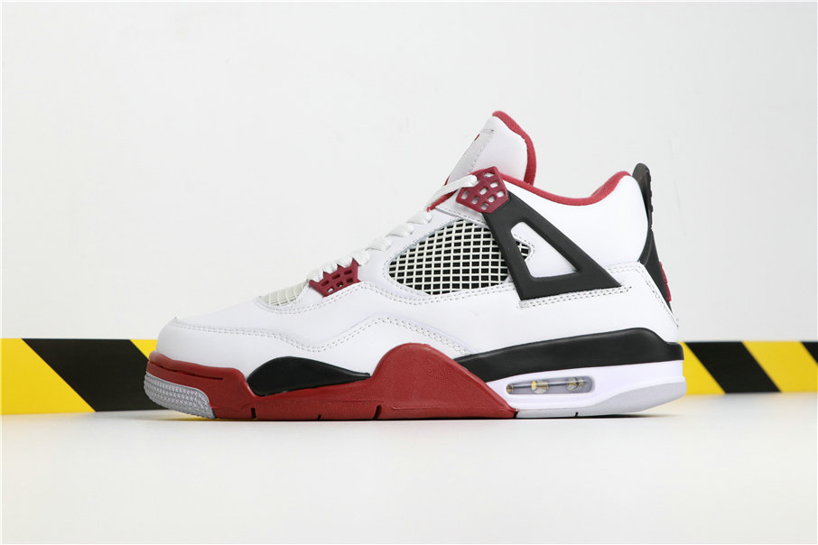ce18e9025ad Wholesale Cheap Nikes Air Jordan 4 Varsity Red Whiten Clare Red Black Blanc  Noir Rouge 308497