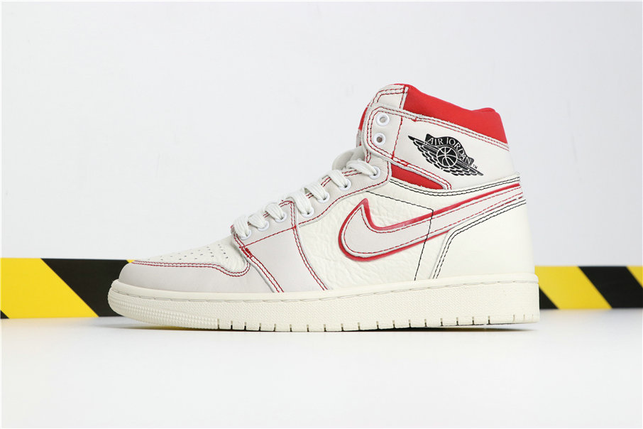 Wholesale Cheap Nikes Air Jordans 1 Retro High OG Sail Black-Phantom-University Red 555088-160-www.wholesaleflyknit.com