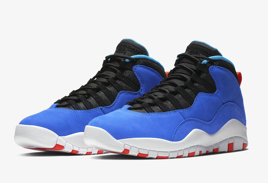 Wholesale Cheap Nikes Air Jordans 10 Tinker Huarache Light Racer Blue Black-Team Orange-White 310805-408-www.wholesaleflyknit.com