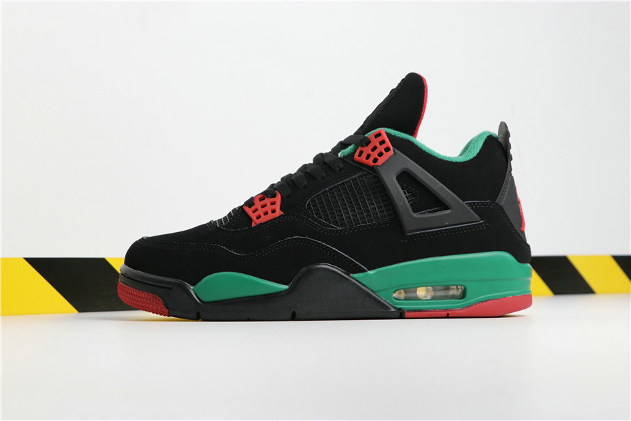 Wholesale Cheap Nikes Air Jordans 4 NRG WHITE GUCCI Green Black Red Vert Noir Rouge AQ3816-163-www.wholesaleflyknit.com