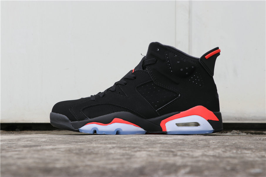 Wholesale Cheap Nikes Air Jordans 6 Black Infrared 384664-060-www.wholesaleflyknit.com