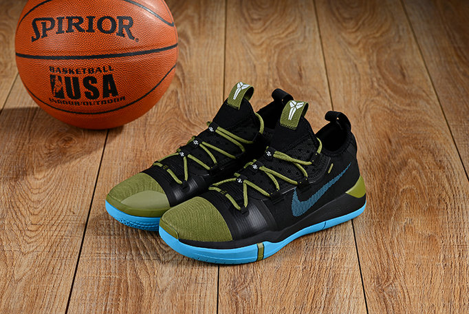 Wholesale Cheap Nikes Kobe A.D. Army Green Black Blue-www.wholesaleflyknit.com