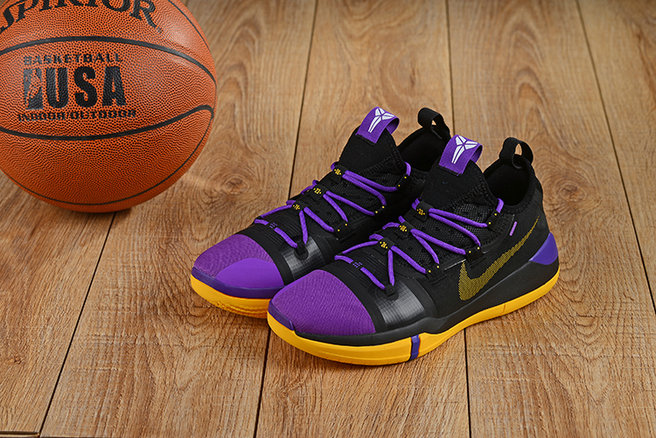Wholesale Cheap Nikes Kobe A.D. Purple Gold Black Yellow-www.wholesaleflyknit.com