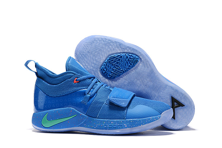 Cheapest Wholesale PlayStation x Nike PG 2.5 Royal Blue Multi-Color BQ8388-900 - www.wholesaleflyknit.com