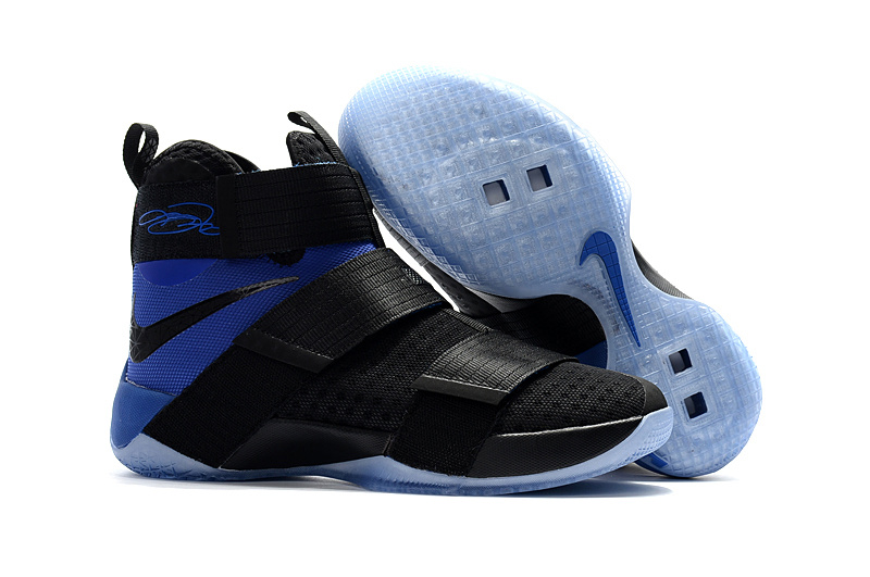 Wholesale Cheap Sale Nike Lebron Soldier 10 Blue Black - www.wholesaleflyknit.com