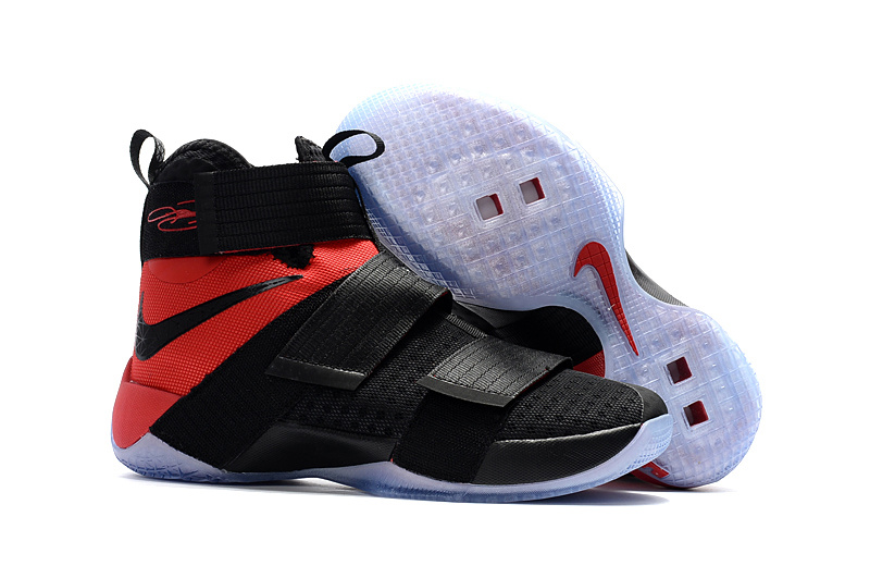 Wholesale Cheap Sale Nike Lebron Soldier 10 Red Black White - www.wholesaleflyknit.com