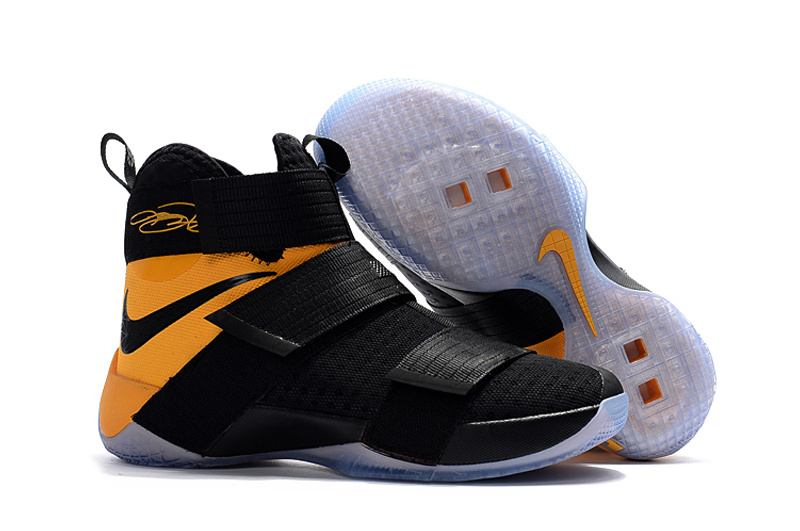 Wholesale Cheap Sale Nike Lebron Soldier 10 Yellow Black White - www.wholesaleflyknit.com