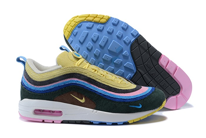 Wholesale Cheap Sean Wotherspoon x Nike Air Max 97-1 Hybrid Multi-Color For Sale - www.wholesaleflyknit.com