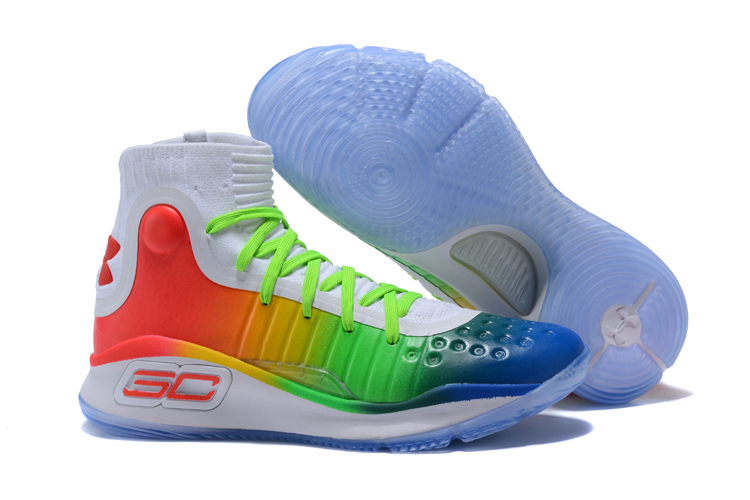 Wholesale Cheap UA Curry 4 Multi-Color White Green Red For Sale - www.wholesaleflyknit.com