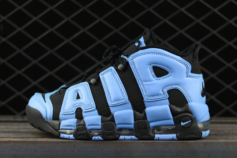 Wholesale Cheap WMNS Nike Air More Uptempo UNC Black-University Blue For Sale - www.wholesaleflyknit.com