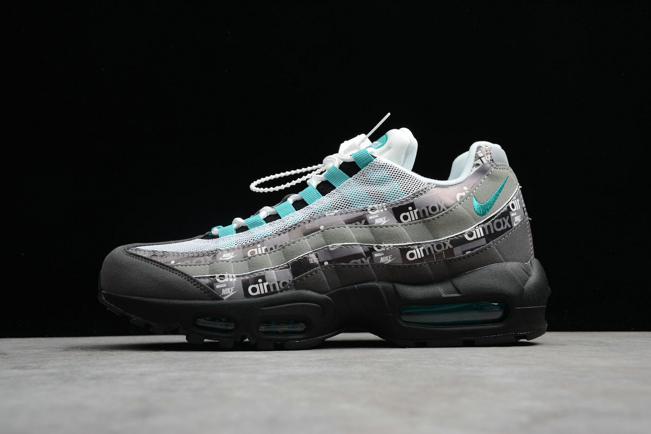 Cheap Womens Wholesale Nike Air Max 95 Prnt AQ0925-001 Black Clear Jade Medium ASH Noir Cendre Moyen Jade Claire- www.wholesaleflyknit.com