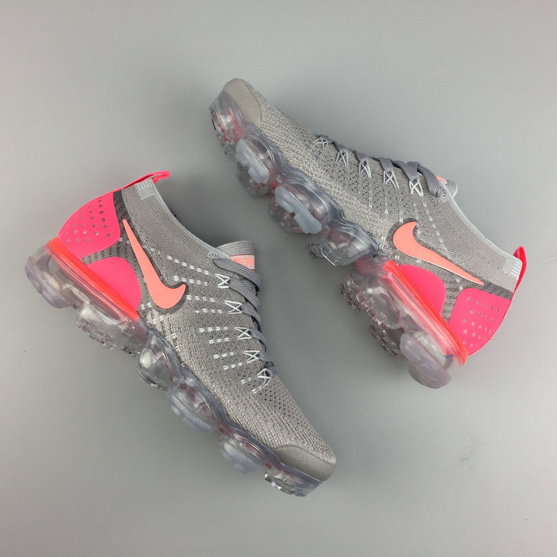 949bea701d4 Cheap Womens Wholesale Nike Air VaporMax Flyknit 2 Pink Red Metallic Grey  On www.wholesaleoffwhite