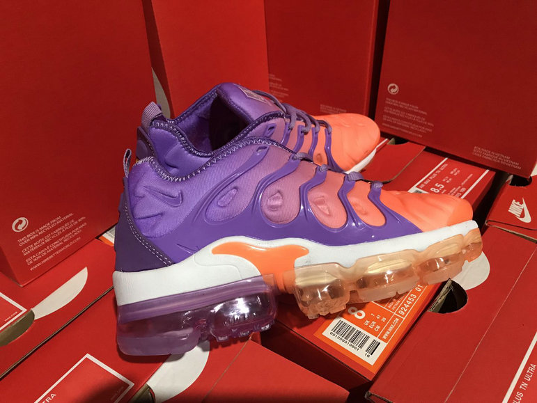 Wholesale Cheap Womens NikeLab Air VaporMax Plus Purple Orange White - www.wholesaleflyknit.com