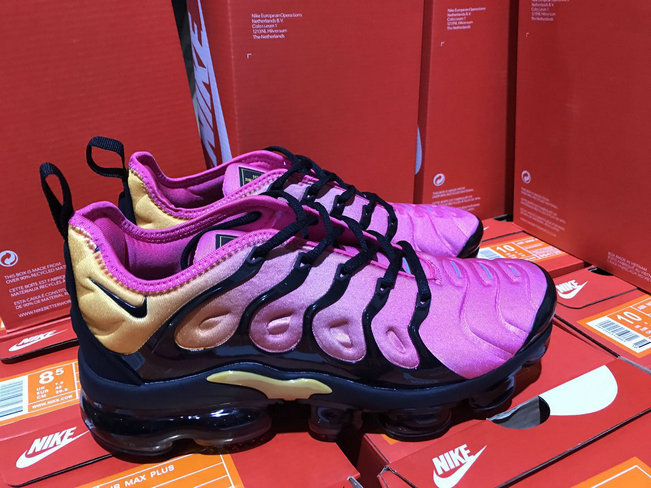 Wholesale Cheap Womens NikeLab Air VaporMax Plus Purple Yellow Black - www.wholesaleflyknit.com