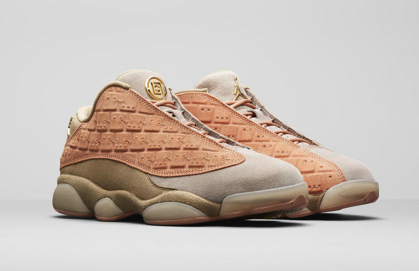 Wholesale Clot x Cheap WMNS Nike Air Jordans 13 Low Sepia Stone Canteen-Terra Blush AT3102-200-www.wholesaleflyknit.com