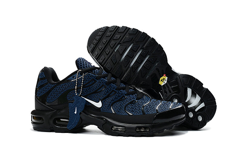 Wholesale Cheap Customize Nike TN Shoes Nike Air Max Black Navy Blue - www.wholesaleflyknit.com