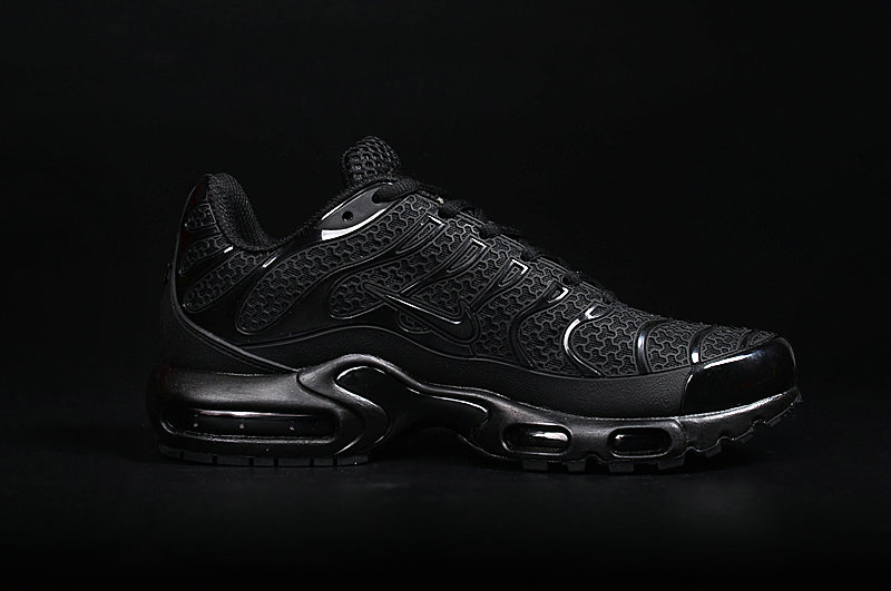 Wholesale Cheap Customize Nike TN Shoes Nike Air Max TN Total Black - www.wholesaleflyknit.com