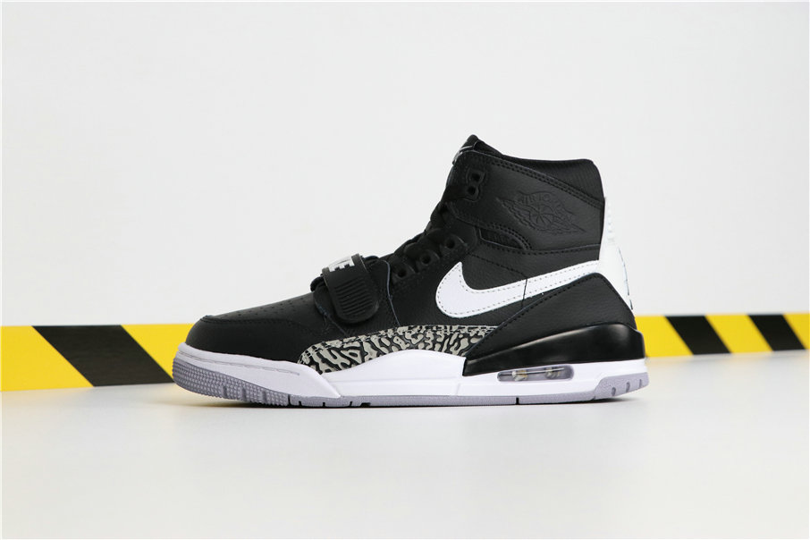 Wholesale Don C x  Cheap Nike Air Jordan Legacy 312 Black Cement AV3922-001-www.wholesaleflyknit.com