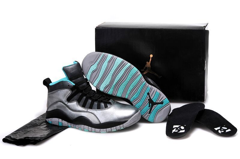 Wholesale Cheap Girls Air Jordan 10 Lady Liberty Cement Grey Black-Tropical Teal Remastered - www.wholesaleflyknit.com
