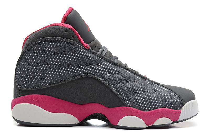 Wholesale Cheap Girls Air Jordan 13 Retro Cool Grey Fusion Pink-White For Sale - www.wholesaleflyknit.com