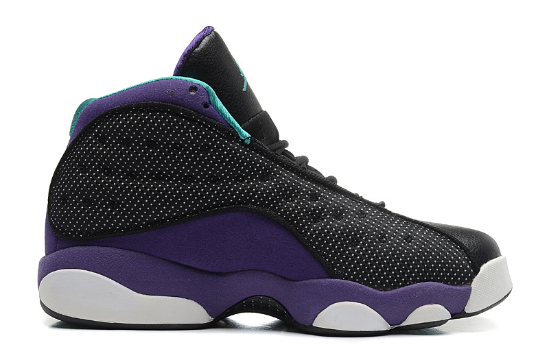 Wholesale Cheap Girls Air Jordan 13 Retro Grape Black Atomic Teal-Ultraviolet For Sale - www.wholesaleflyknit.com