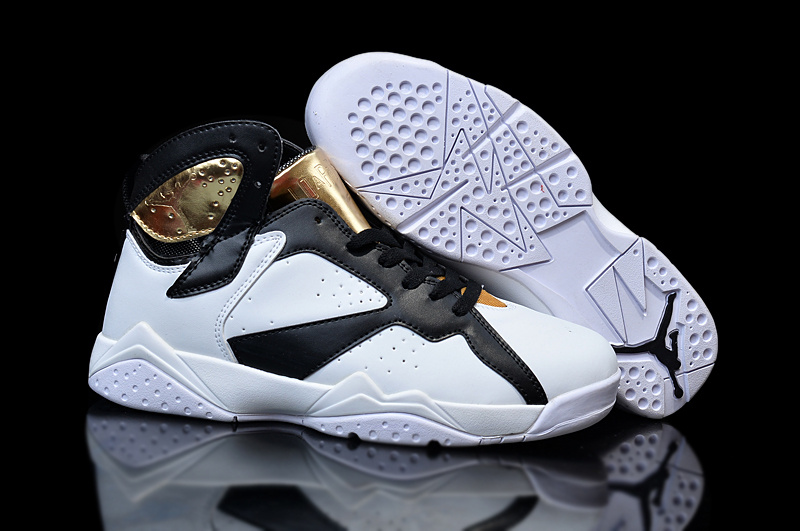 Wholesale Cheap Girls Air Jordan 7 Champagne White Gold Black Shoes - www.wholesaleflyknit.com