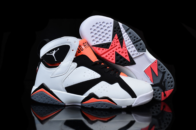 Wholesale Cheap Girls Air Jordan 7 Hot Lava White Black-Hot Lava - www.wholesaleflyknit.com