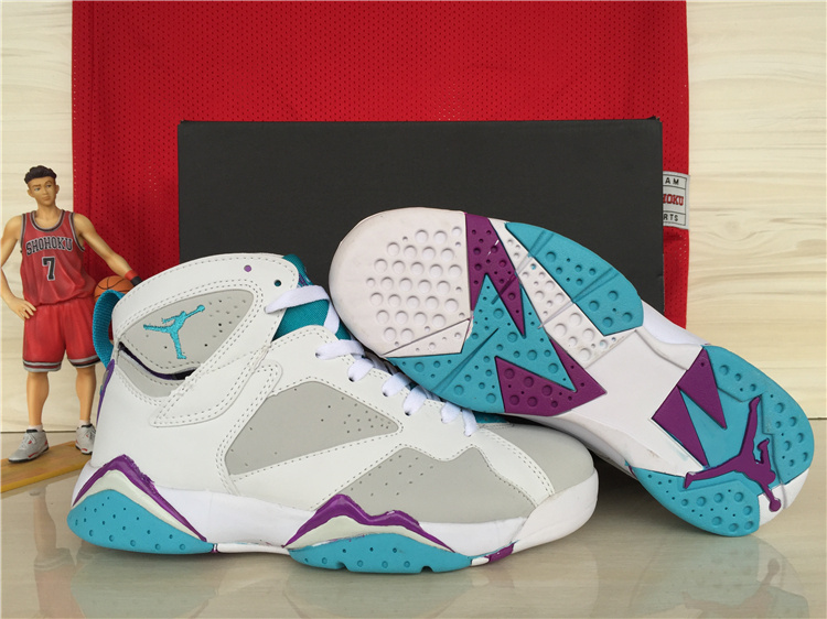 Wholesale Cheap Girls Air Jordan 7 Retro Neutral Grey Mineral Blue For Sale - www.wholesaleflyknit.com