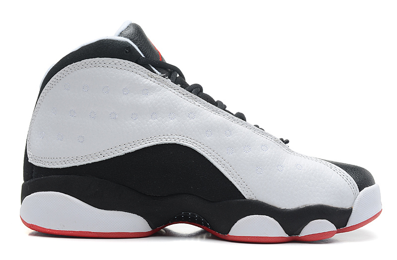 Wholesale Cheap Girls Air Jordans 13 Retro He Got Game White True Red-Black For Sale - www.wholesaleflyknit.com