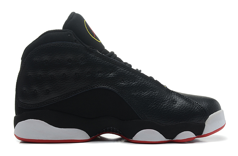 Wholesale Cheap Girls Air Jordans 13 Retro Playoffs Black Varsity Red-White-Vibrant Yellow - www.wholesaleflyknit.com