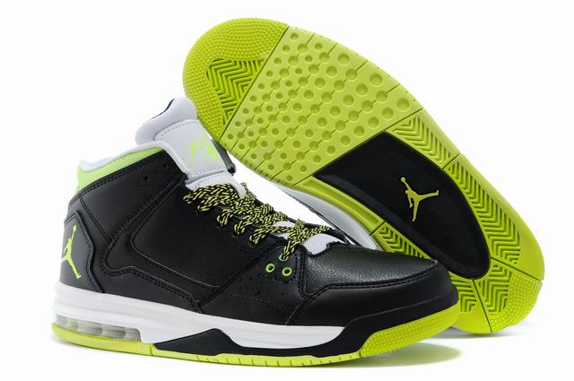 Wholesale Cheap Jordan Flight Origin Black Venom Green Volt Ice White For Sale - www.wholesaleflyknit.com