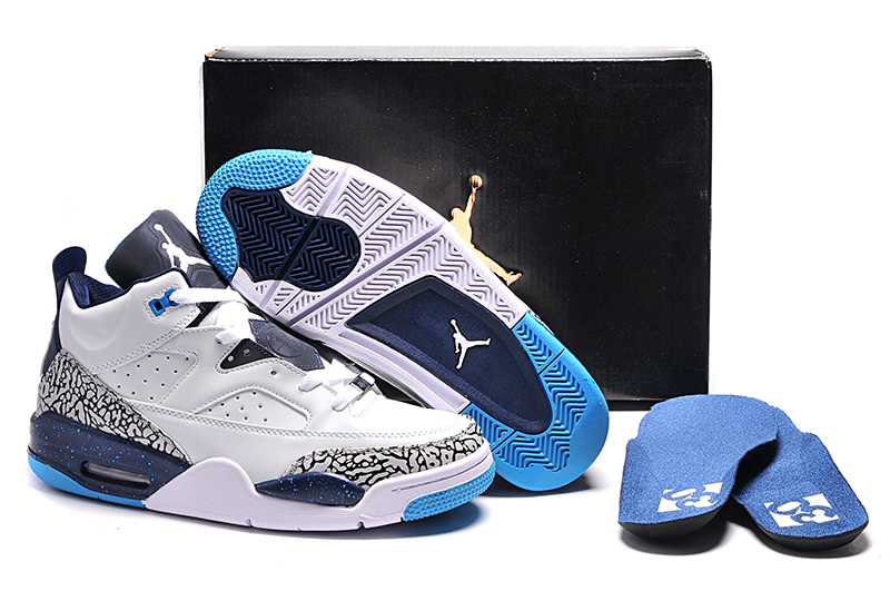 Wholesale Cheap Jordan Son of Mars Low Hornets White Midnight Navy-Turquoise Blue For Sale - www.wholesaleflyknit.com