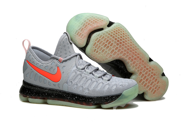Wholesale Cheap KD 9 Limited Edition Gray Black Red Fluorescence 2016 For Sale - www.wholesaleflyknit.com