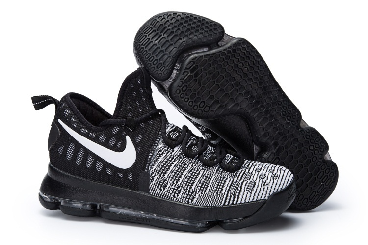 Wholesale Cheap KD 9 Oreo Black White 2016 For Sale - www.wholesaleflyknit.com