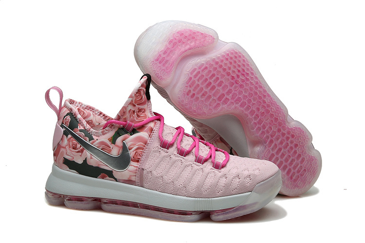 Wholesale Cheap KD 9 Pink Black Aunt Pearl Flora 2016 For Sale - www.wholesaleflyknit.com