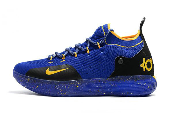 Cheap Wholesale Kevin Durants New Nike KD 11 Purple Black Yellow Basketball Shoes - www.wholesaleflyknit.com