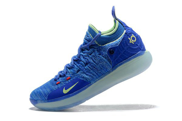 Cheap Wholesale Kevin Durants Nike KD 11 Paranoid Bright Blue Volt For Sale - www.wholesaleflyknit.com
