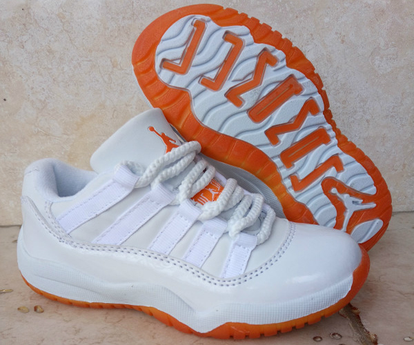 Wholesale Cheap Kids Air Jordan 11 Low Citrus White White-Citrus 2016 For Sale - www.wholesaleflyknit.com