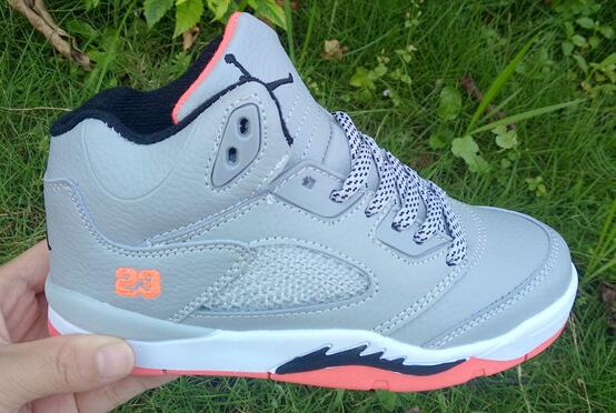 Wholesale Cheap Kids Air Jordan 5 Hot Lava Wolf Grey Hot Lava White Black For Sale - www.wholesaleflyknit.com