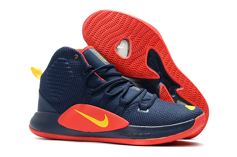 Kids Nike Hyperdunk 2018  Navy Blue Red Yellow - www.wholesaleflyknit.com