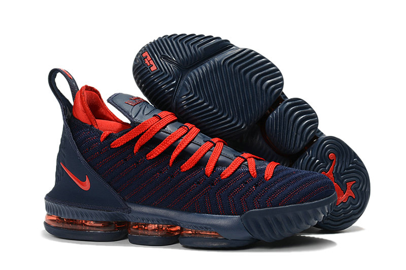 Kids Wholesale Nike Lebrons 16 Cheap Red Navy Blue On www.wholesaleoffwhite.com