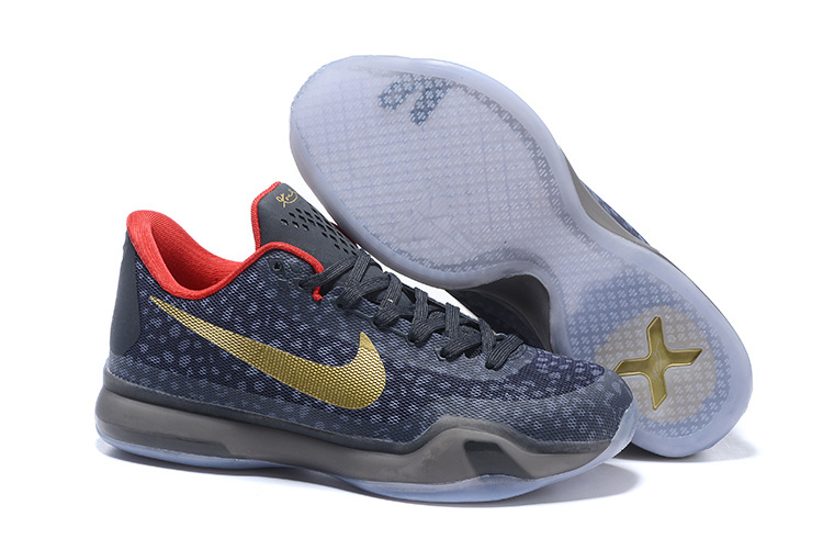 Wholesale Cheap Kobe 10 Safari Print Charcoal Gold Red For Sale - www.wholesaleflyknit.com