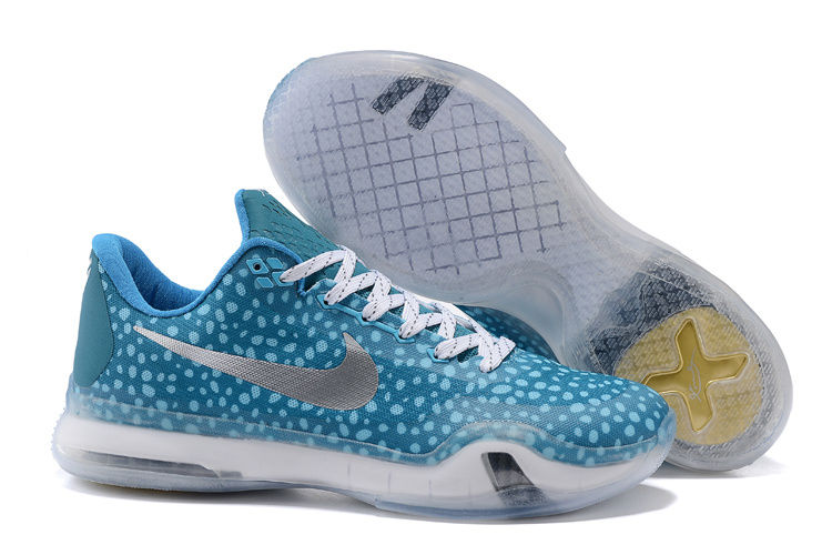 Wholesale Cheap Kobe 10 Safari Print Light Blue Silver For Sale - www.wholesaleflyknit.com