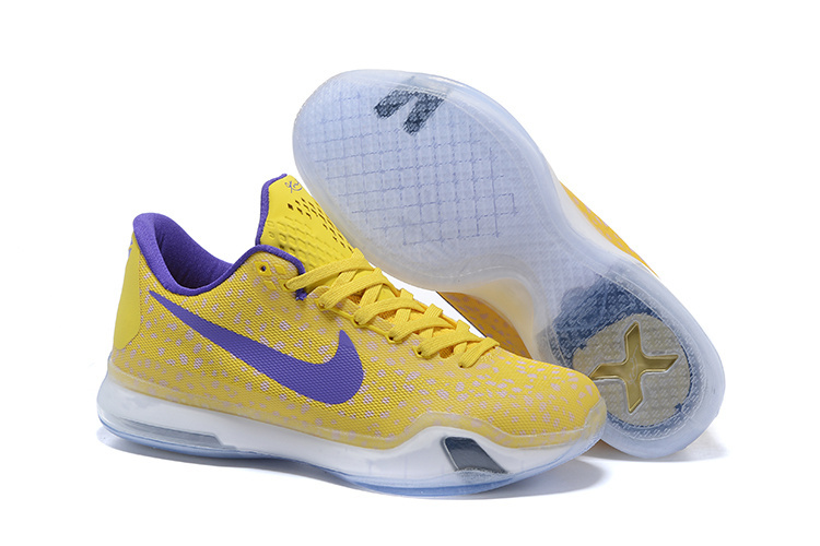 Wholesale Cheap Kobe 10 Safari Print Yellow Purple For Sale - www.wholesaleflyknit.com