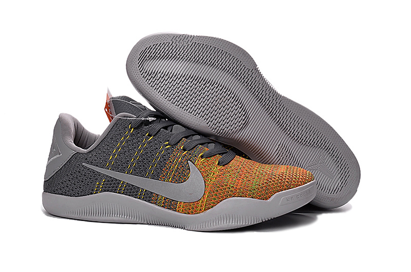 Wholesale Cheap Kobe 11 Elite Low Cool Grey Cool Grey Voltage Green-Yellow Strike 2016 For Sale - www.wholesaleflyknit.com