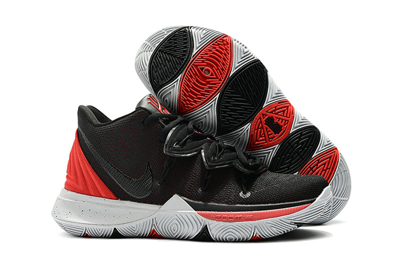 Wholesale Kyrie Irvings For Kids Nike Kyrie 5 Red Black White-www.wholesaleflyknit.com